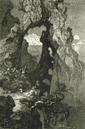 ITALY: Natural Archway, antique print, 1877